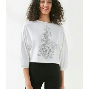 Urban Outfitters Dragon Design Crop
